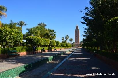 Die Koutoubia Moschee - Marrakeschs größtes Gotteshaus