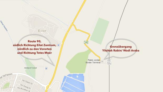 Am einfachsten überquerst du die Grenze in Eilat. Weiter nördlich gibt es noch die King Hussein-Brücke, hier dauert es aber extrem lange und du benötigst ein vorgefertigtes Visum