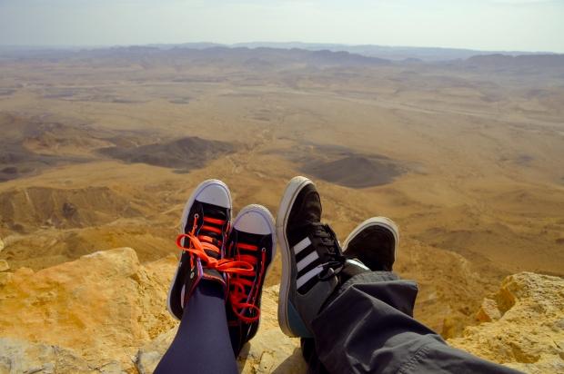 Beim Frühstück am Rande des Canyons einfach mal die Seele baumeln lassen- und die Füße auch...