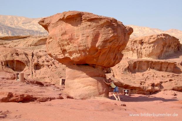 """Eine der bekanntesten Felsformationen ist der """"Mushroom"""""""