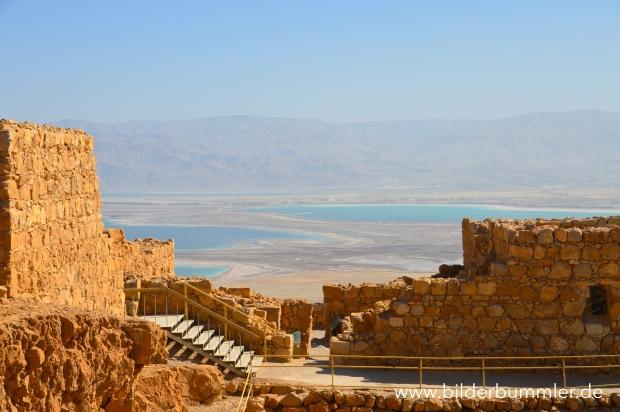 Blick von Masada aus aufs Tote Meer