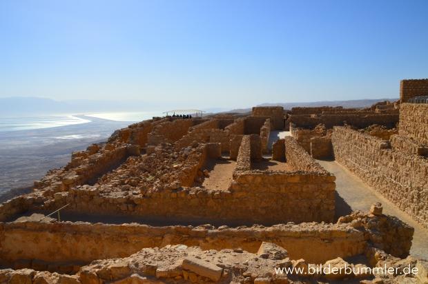 Blick auf einen Teil der Ruinen von Masada
