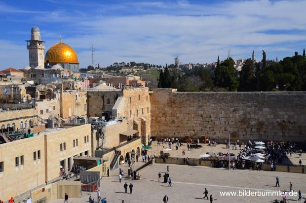 Kein Besuch Jerusalems ohne sie gesehen zu haben: die Klagemauer